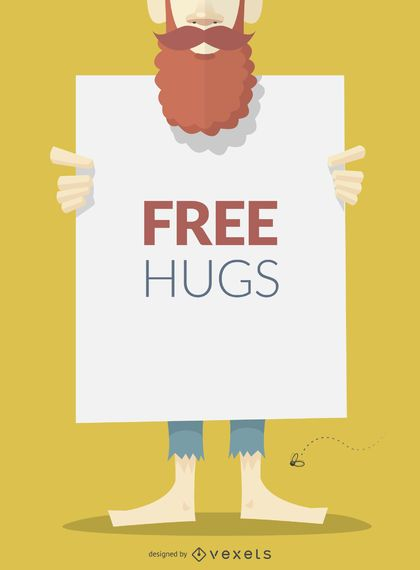 Cartel o cartel de abrazos gratis.
