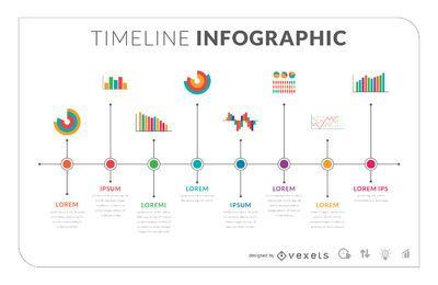 Piso plantilla infografía línea de tiempo