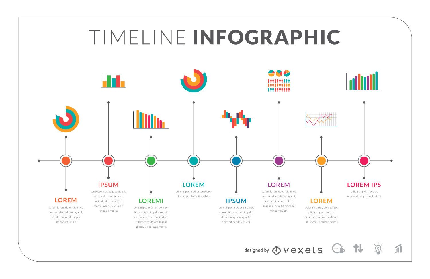 Timeline Vector Graphics To Download - Timeline graphic template