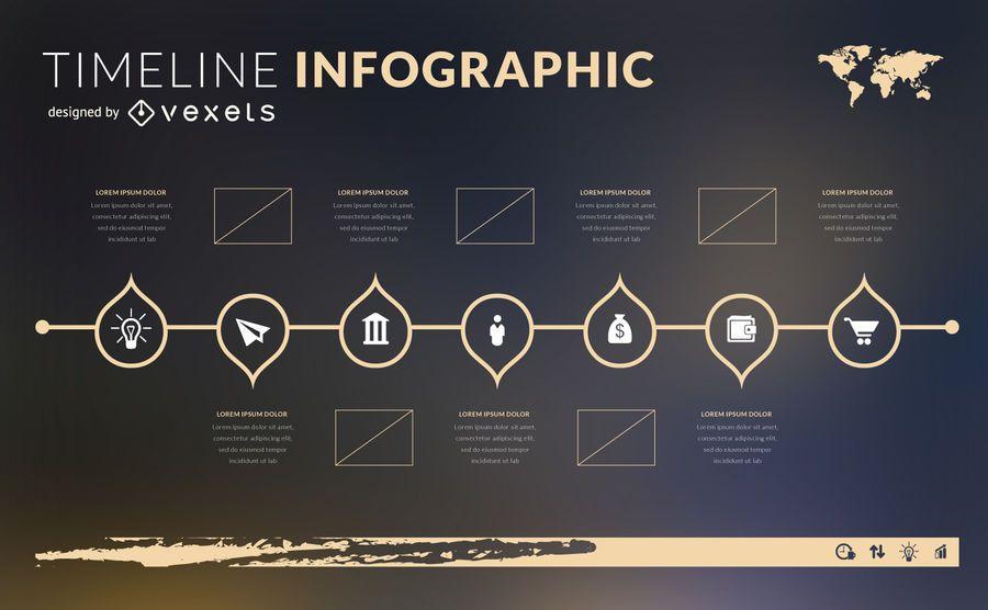 Timeline infographic designs