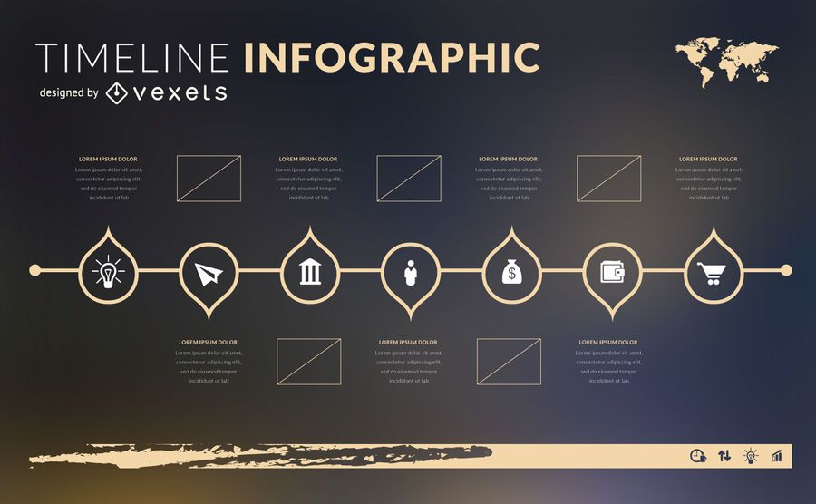 Modelo de cronograma infográfico design plano