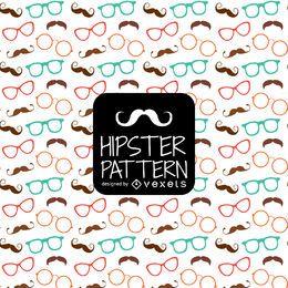 Hipster Brille Schnurrbart Muster