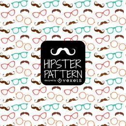Hipster glasses moustache pattern