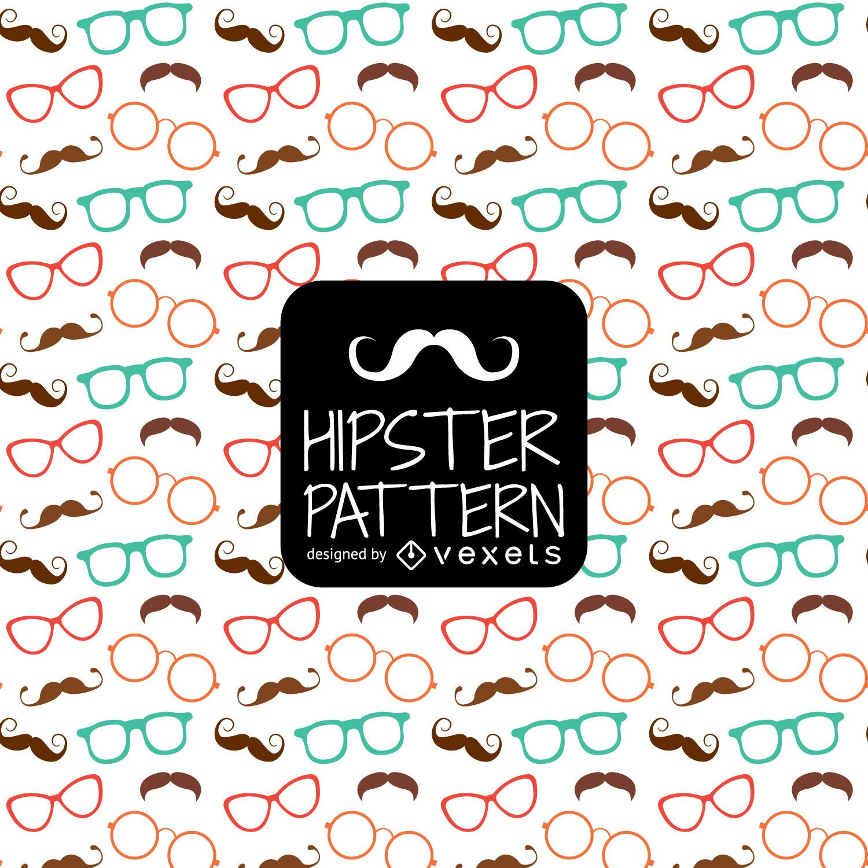 Hipster glasses moustache pattern