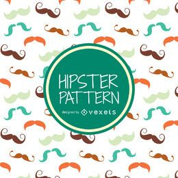 Patrón de bigote hipster