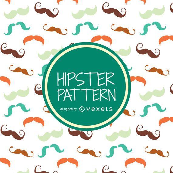 Hipster-Schnurrbartmuster