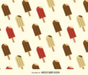 Patrón de fondo de helado