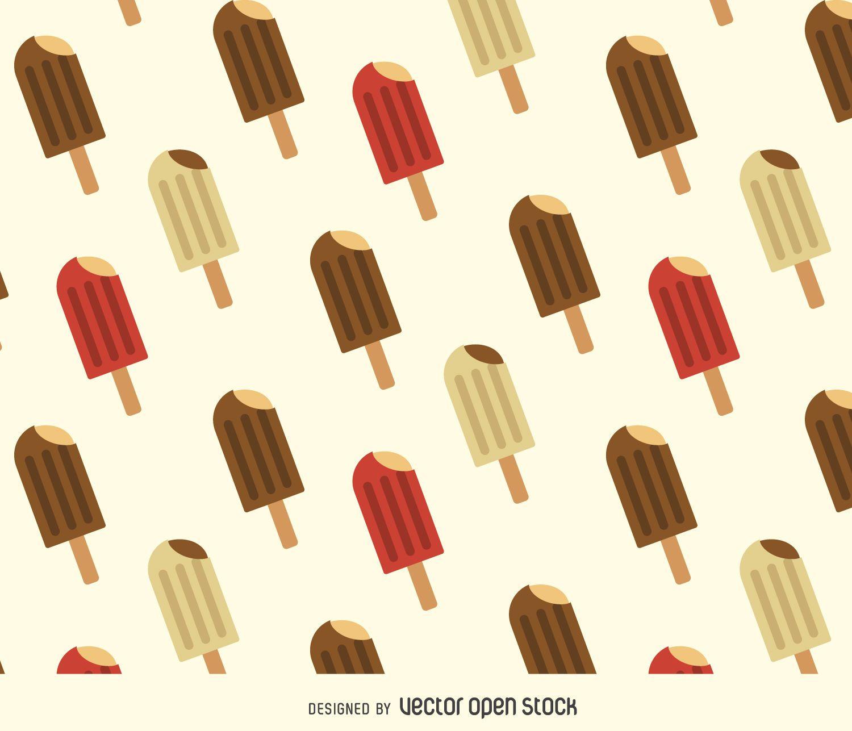 Ice cream background pattern