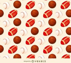 Baseball basketball and football pattern