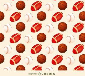 Béisbol de baloncesto y patrón de fútbol.