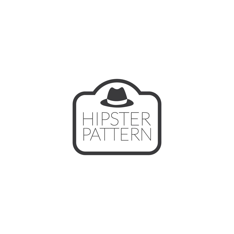 Hipster beard pattern