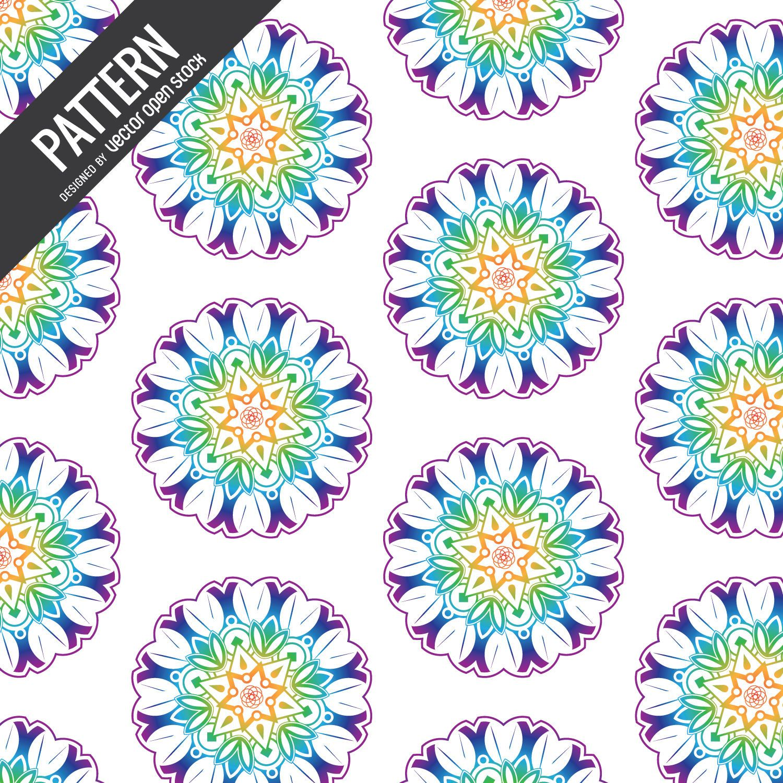 Mandala flower pattern