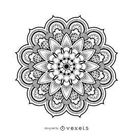 Mandala-Entwurfszeichnung