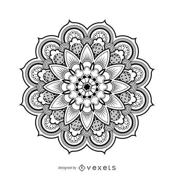 Dibujo de diseño mandala