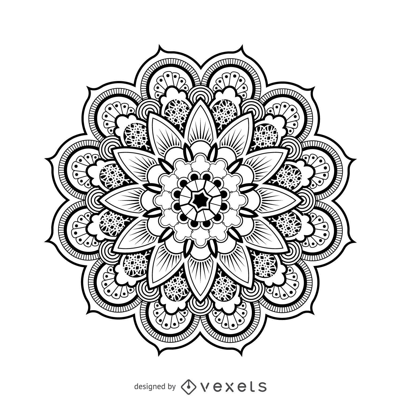 Dibujo de diseño de mandala