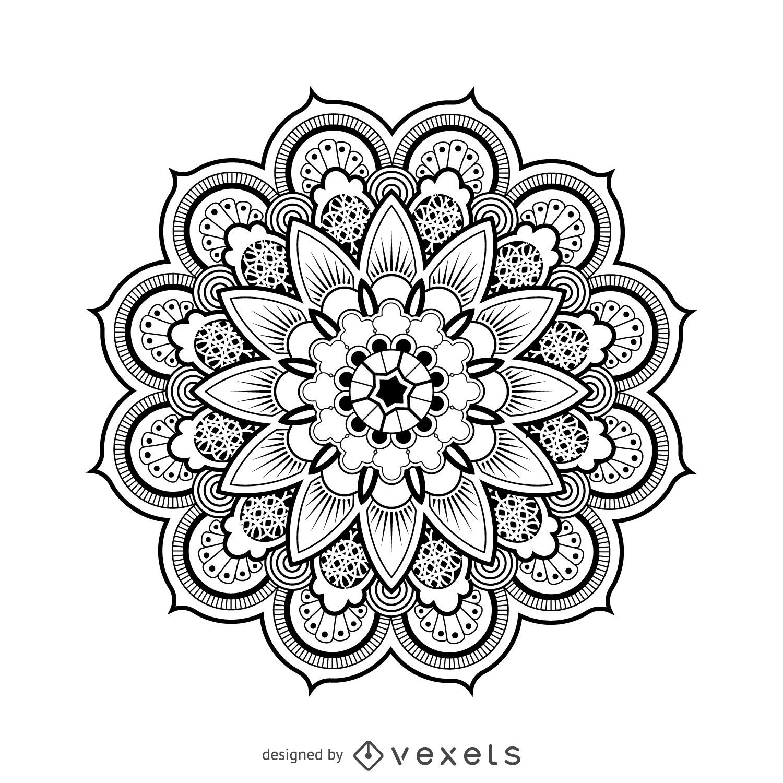 Mandala dibujo del dise o descargar vector for Disenos de mandalas