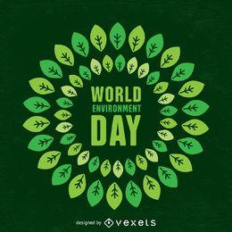 Diseño del día mundial del medio ambiente.