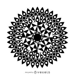 Diseño de ilustración mandela