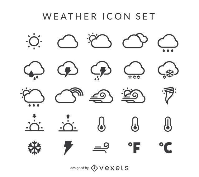 Conjunto de ícones do tempo