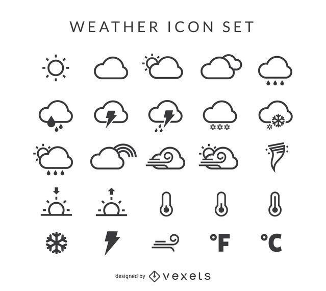 Conjunto de iconos del tiempo
