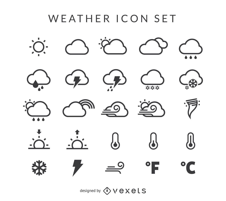 Conjunto de iconos de clima