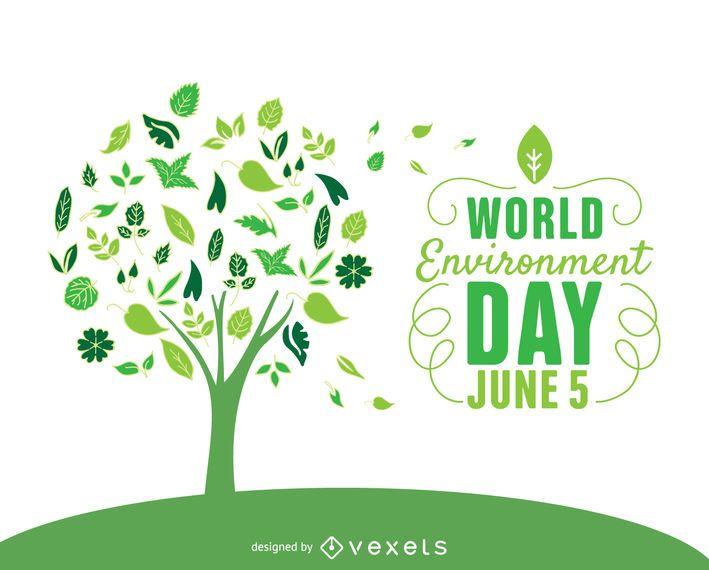 Árvore de dia de ambiente mundial