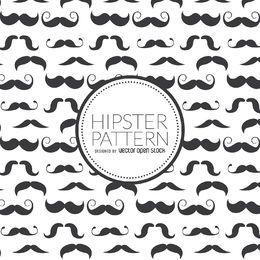 Nahtloses Muster des Hipster-Schnurrbartes