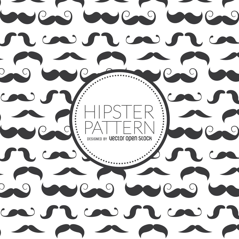 Hipster moustache seamless pattern