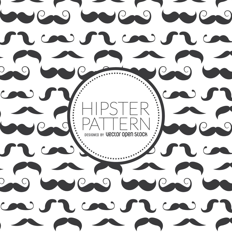 Patrón sin fisuras de bigote hipster