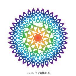 Dibujo mandala colorida