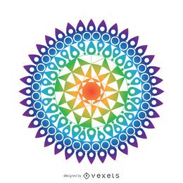 Dibujo mandala colorido