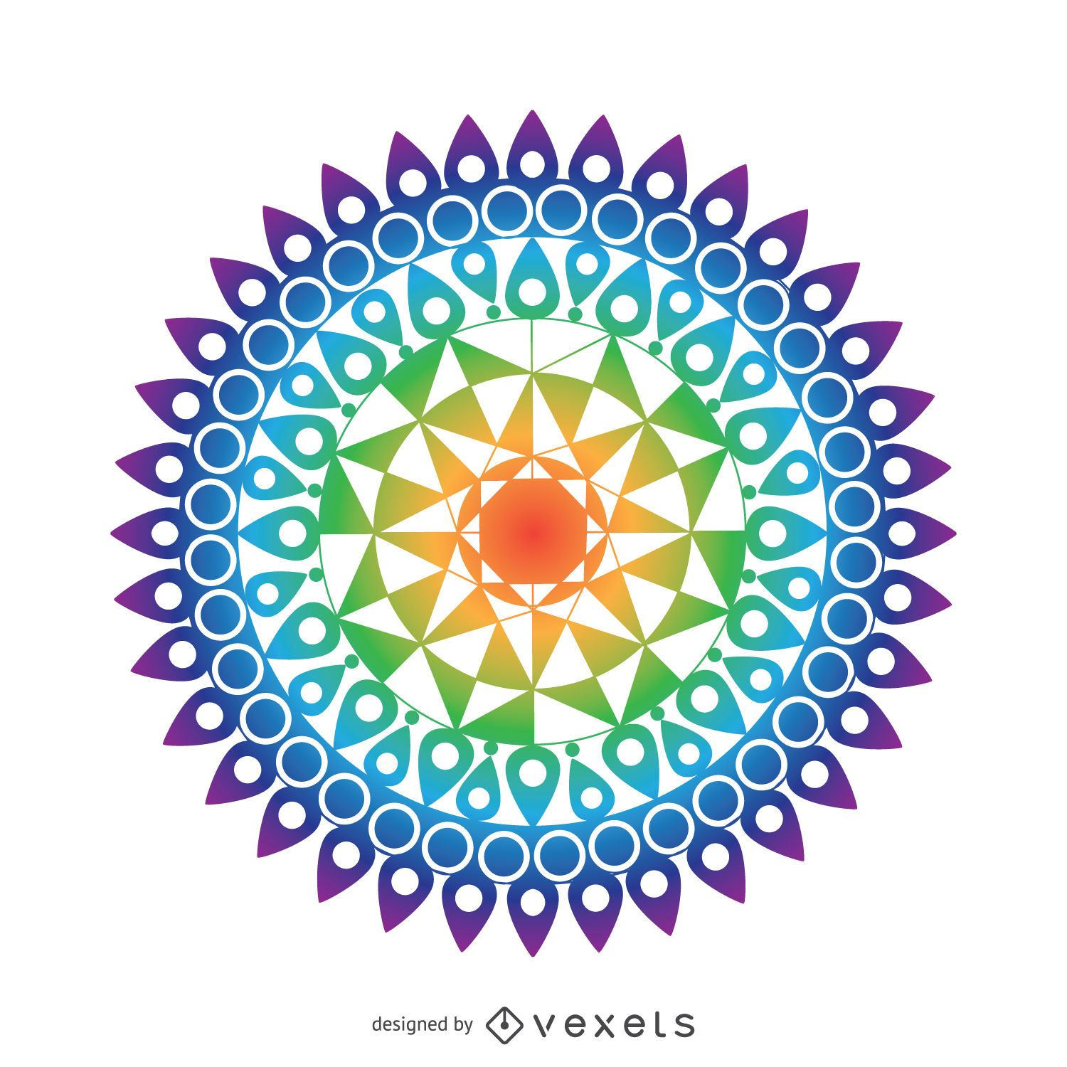 colorful mandala drawing vector download