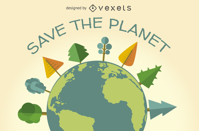 Salve o planeta ecologia signo