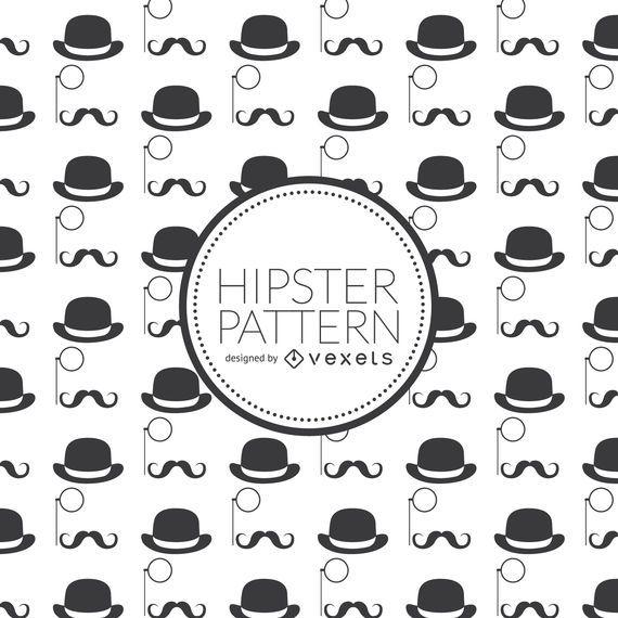 Fundo de elementos hipster