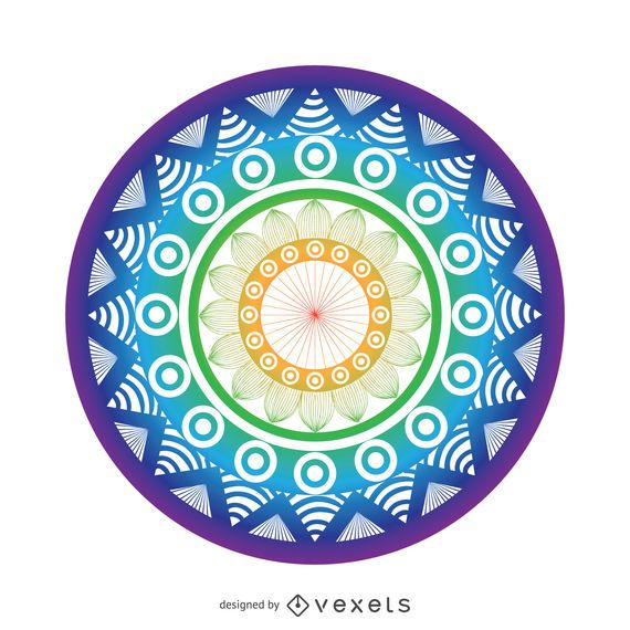 Bright mandala drawing