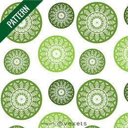 Grünes Mandala-Muster