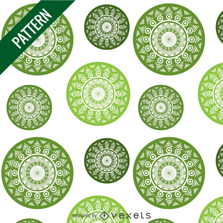Green Mandala Pattern Vector Download