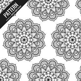Patrón de mandala floral