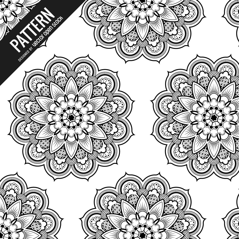 Padrão de mandala floral