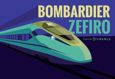 Ilustración del tren Bombardier Zefiro