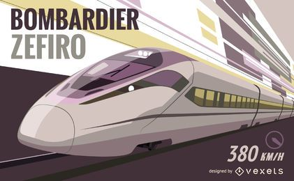 Bombardier Zefiro vector graphic