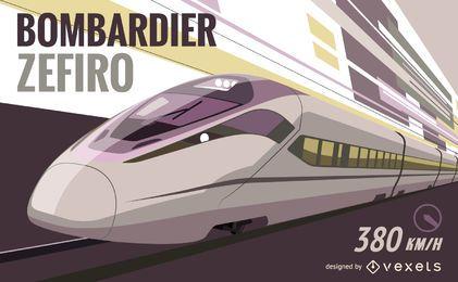 Bombardier Zefiro-Vektorgrafik