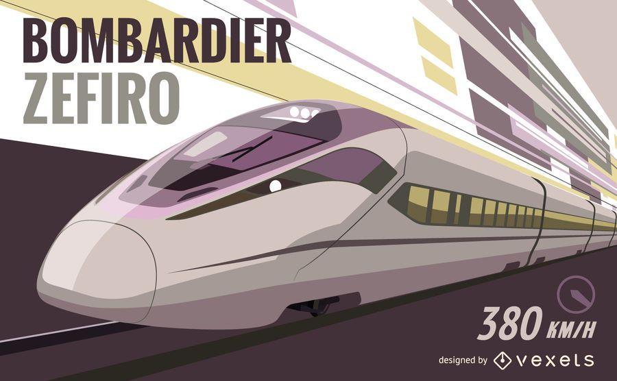 Bombardier Zefiro gráficos vectoriales