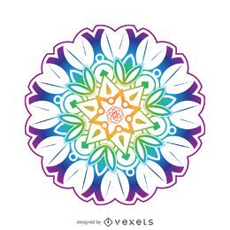 Colorful mandala flower