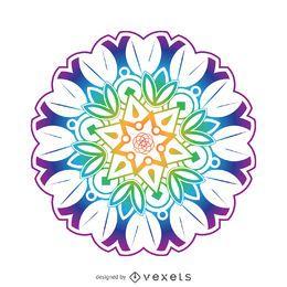 Flor colorida mandala