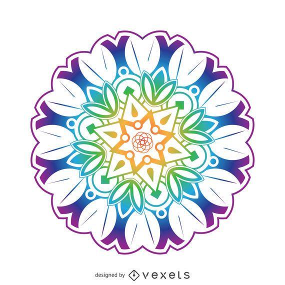 Flor de mandala de colores