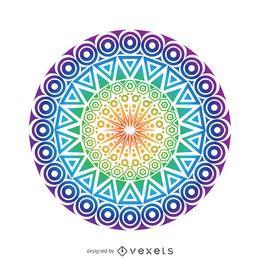 Desenho de mandala circular