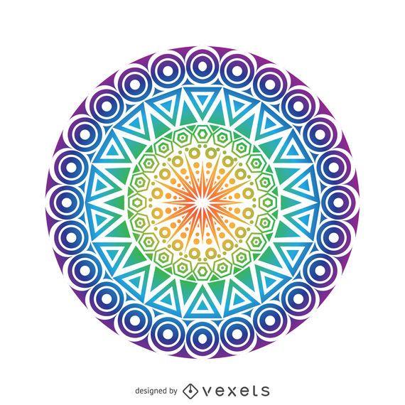 Desenho de mandala de círculo