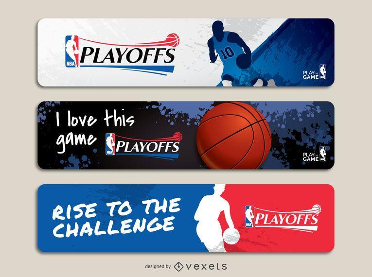 NBA playoffs banner set