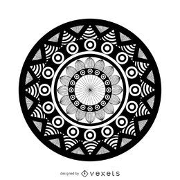 Dibujo de mandala geométrico